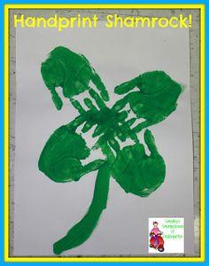 St. Patrick's Day art!  A handshake shamrock!
