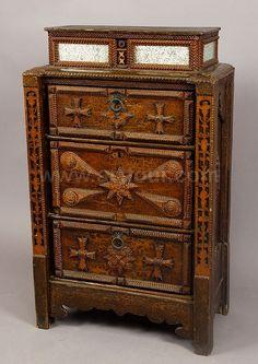 Tramp Art Dresser