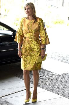 The Dutch Royal Courts: Elegant in yellow on her Birthday May 17th post