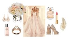 """A rose's dream"" by saravictoria99 ❤ liked on Polyvore featuring beauty, Chanel, Diane James, Jimmy Choo, Elie Saab, Dolce&Gabbana and Suzanne Kalan"