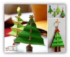 Paper Christmas Tree Another great craft for kids to do during Christmas fun! Noel Christmas, Christmas Crafts For Kids, Christmas Activities, Christmas Projects, Winter Christmas, Holiday Crafts, Holiday Fun, Christmas Decorations, Christmas Ornaments