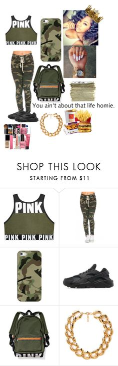 """camo gang "" by queenag123 ❤ liked on Polyvore featuring Casetify, NIKE, SEN and Forever 21"