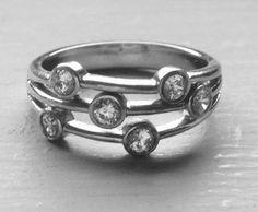 Diamond eternity ring in platinum.