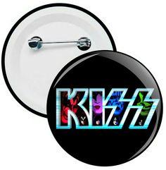 L030 - Botons e Chaveiros - Kiss - Wathsapp: (61) 9 9129-7213