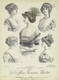 Coiffures de Mr. Croizier (Mon Noirat), 7, rue des Capucines, Paris. (1911)