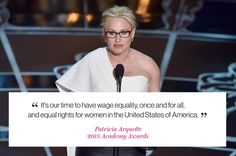 Well said, @PattyArquette. #Oscars #EqualRights