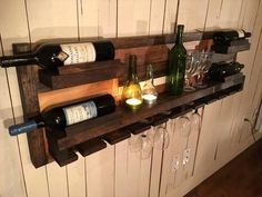Pallet Beverage Bottle Rack - 300+ Pallet Ideas and Easy Pallet Projects You Can Try - Page 8 of 29 - Pallets Pro