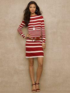 Kaylee Striped Jersey Dress - Short Dresses  Dresses - RalphLauren.com