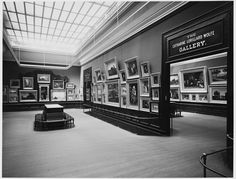 This photograph of The Catharine Lorillard Wolfe Gallery in the Paintings Galleries was taken circa 1907.