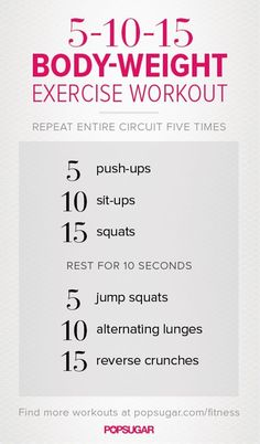 Body-Weight Workout You Can Do Anywhere