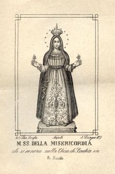 Maria SS. della Misericordiae A print of the statue of Our Lady of Mercy in San Basile in Calabria, Italy.