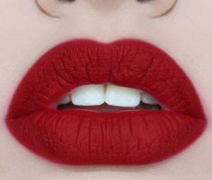 Matte red Lips #makeup