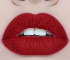 Matte red Lips #makeup