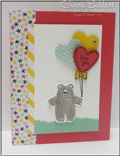 My Control Freaks swap for the Occasions 2016 catalog using Bear Hugs, Love, Valentine, Stampin' Up!, #stampinup, created by Connie Babbert, www.inkspiredtreasures.com