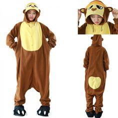 4c279484b58 Adult Unisex Gorilla Kigurumi Onesie Pajamas Fleece Animal Costume