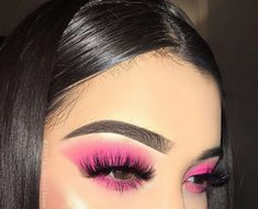Eyeshadow Looks makeup, make, and style image Make-up, Make-up und Stil Bild Pink Makeup, Cute Makeup, Pretty Makeup, Colorful Makeup, Hair Makeup, Bright Pink Eye Makeup, 80s Makeup, Witch Makeup, Clown Makeup