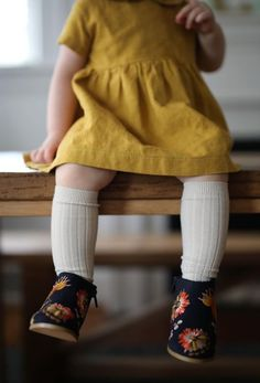 Handmade Linen Dress in Marigold   SweetHannahBDesigns on Etsy