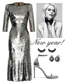 NYE outfit by thekeystylist on Polyvore featuring moda, Dolce&Gabbana, Yves Saint Laurent and Belk & Co.