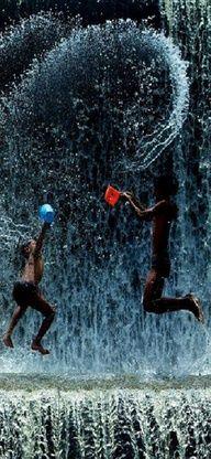 Who says you can't have fun in the rain? #fun #jump