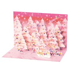Greeting Life Mini Santa Pop Up Christmas Card P-140