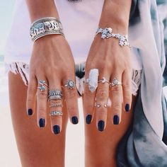 stacked rings and midi rings