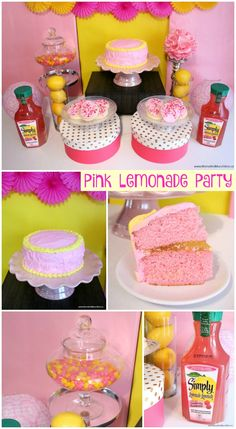 Pink Lemonade Party - decorating ideas, pink lemonade recipes and more! Perfect theme for a spring garden party!