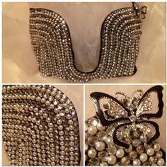 Sexy pearls 32B rave bra by ElectricEDM on Etsy, $90.00