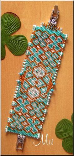 Motif Hawaïen de MU  #beadwork