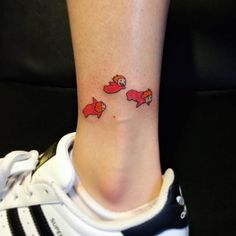 Ponyo inspired tattoo on the ankle. Tattoo artist: Jay Shin
