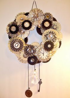 tim holtz wreath most wonderful new years decor new years party how to