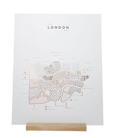 Affiche Londres - ROAM by 42 Pressed