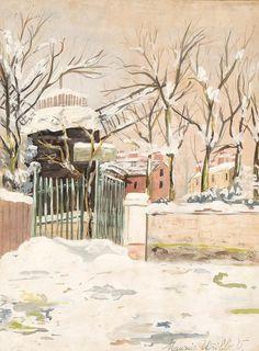 Moulin de la Galette sous la neige, Montmartre, Maurice Utrillo. French (1883 - 1955)