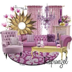 decorating disney style | Disney Style : Rapunzel - Polyvore