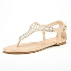 Xiujanet Women Bohemia T-Strap Gladiator cute owl Beads Flip-flop Flat Sandals