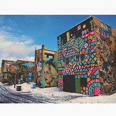 A colourful winter wonderland. #thestreetartwalk   Great shot by local photographer @patographics . Make sure you check out his photos!    #streetartmuralsaustralia #streetart #katoomba #bluemountains #winter #snow #visitnsw