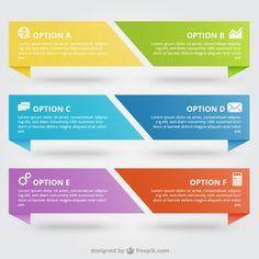 Красочные баннеры инфографики Бесплатные векторы