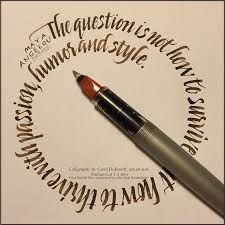 Carol DuBosch ( ) wrote this quote using our Radius Cut… Calligraphy Letters Alphabet, Calligraphy Words, Calligraphy Envelope, How To Write Calligraphy, Penmanship, Modern Calligraphy, Calligraphy Practice, Beautiful Lettering, Beautiful Calligraphy