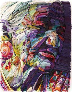 Yulia Brodskaya - arte com tiras de papel - técnica quilling