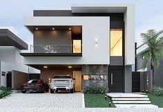 68 Ideas For Exterior Facade Design Style Modern Exterior House Designs, Modern House Facades, Modern Architecture House, Modern House Plans, Architecture Design, Exterior Design, Modern Bungalow Exterior, Modern Small House Design, Plans Architecture