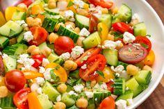 Tomato Cucumber Feta Salad  - Delish.com