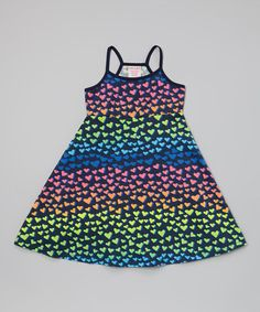Look what I found on #zulily! Black Heart Dress - Toddler & Girls #zulilyfinds