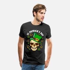 Patrick's Day Männer Premium T-Shirt Day, Mens Tops, Design, Fashion, Amazing Gifts, Gift For Boyfriend, Clothing Apparel, Moda, Fasion