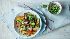 Wok med kylling og grønnsaker