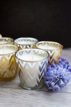 Learn how to make candles in pretty decorative votives.