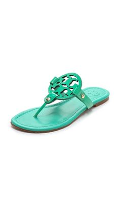 Tory Burch...this is my favorite style of sandal for the summer!  So comfy and so many colors