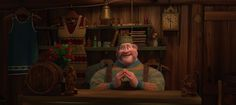 Oaken Saying Hello to Anna in Frozen