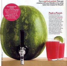 Watermelon Keg (21st bday idea)