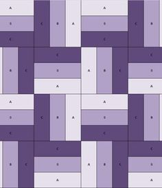 An easy quilt pattern that may end up quite repetitive, maybe use 4 small blocks to make one bigger block of different colours. Could make a rainbow quilt this way. Quilting For Beginners, Quilting Tutorials, Quilting Projects, Quilting Designs, Quilting Ideas, Quilt Design, Sewing Projects, Jelly Roll Quilt Patterns, Easy Quilt Patterns
