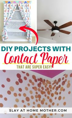 Discover 14 easy DIYs you can do with contact paper...Read more at SLAYathomemother.com...