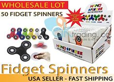 LOT OF 50 PCS. FIDGET SPINNERS IN ASSORTED COLORS. Features: Colors: Assorted Diameter: 3.1inches Thickness: 0.3inches Package Includes: 50 Fidget Spinners How to use: Simply hold this spinner in one hand then use your other hand to spin it rapidly using small continuous strikes to keep it... more details available at https://perfect-gifts.bestselleroutlets.com/gifts-for-teens/toys-games-gifts-for-teens/product-review-for-ak-trading-lot-of-50-tri-spinner-fidget-gadget-hand-ed